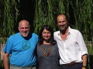 Sylvia y Andres con Bob Stahl 2016